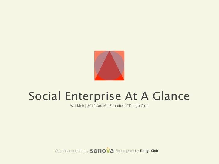 Social Enterprise At a Glance