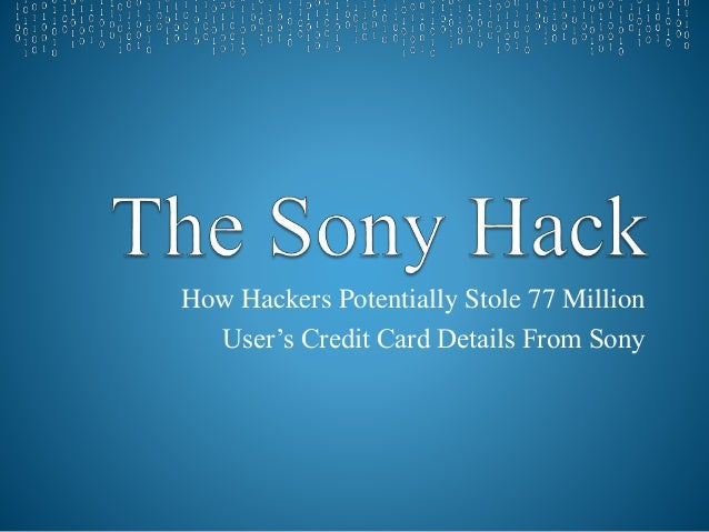 Sony Playstation Hack Presentation