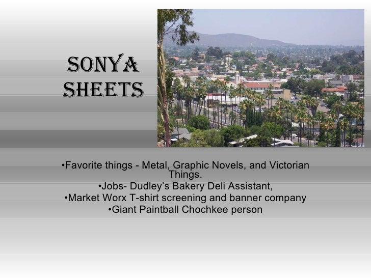 Sonya sheets