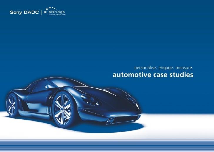 Sony eBridge: Automotive Case Studies