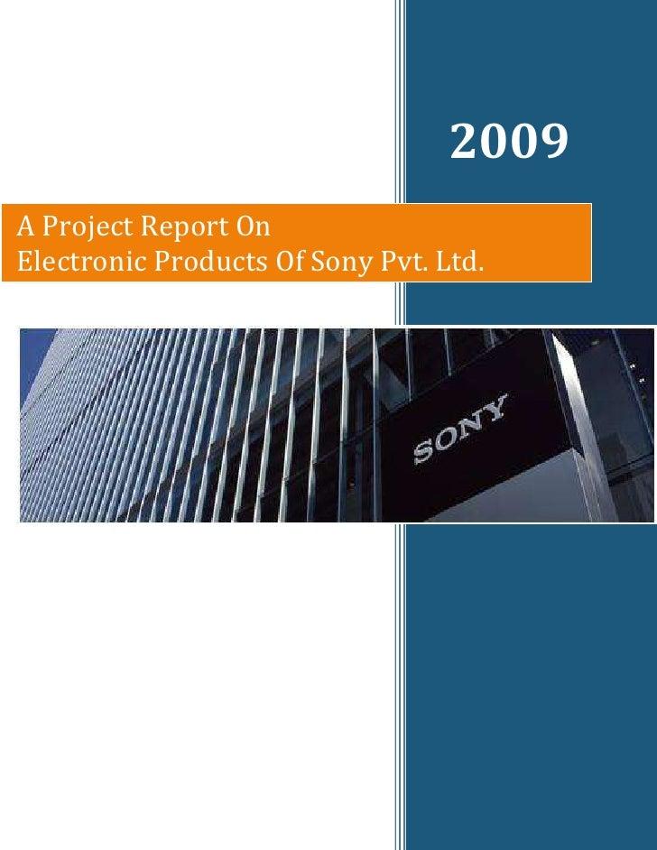 Sony Final Project
