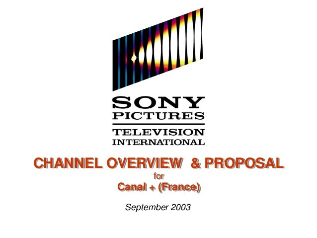 Sony Networks presentation (PowerPoint slide-deck) - client: Sony Pictures Television International