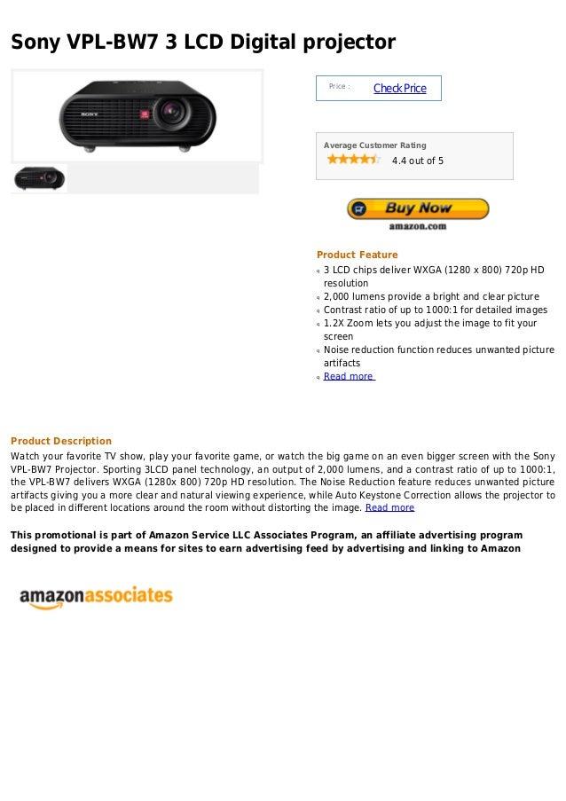 Sony vpl bw7 3 lcd digital projector