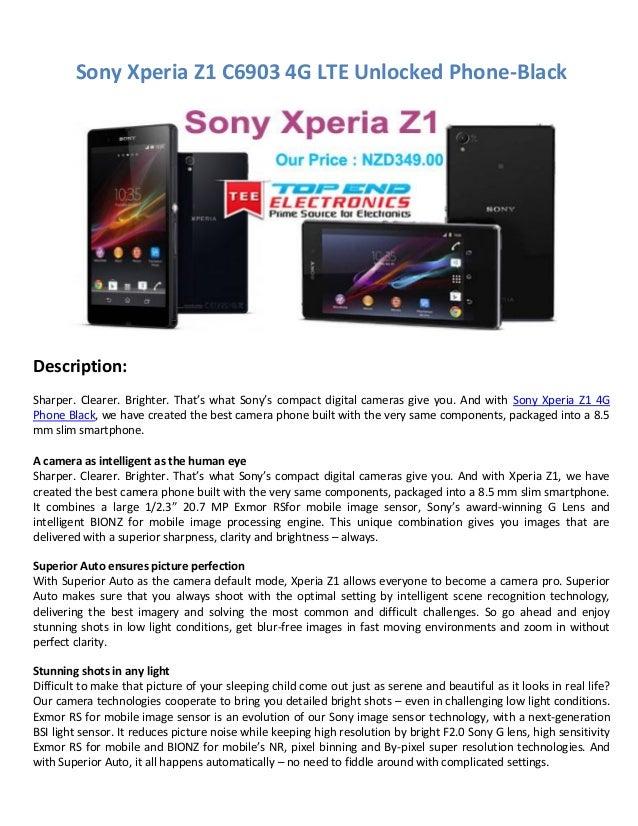 Sony xperia z1 4 g
