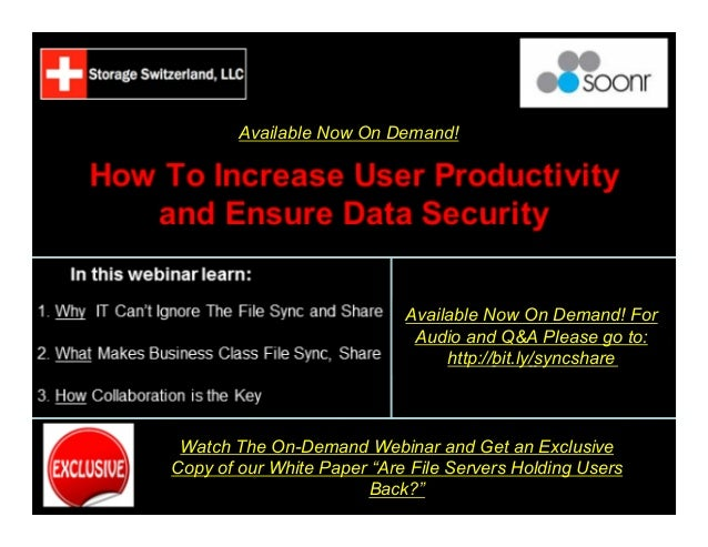 Are File Servers Holding Users Back? How To Increase Productivty While Securing Data