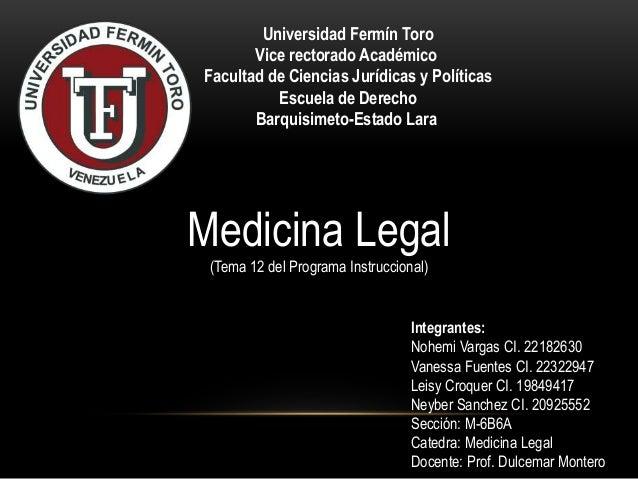 Universidad Fermín Toro  Vice rectorado Académico  Facultad de Ciencias Jurídicas y Políticas  Escuela de Derecho  Barquis...