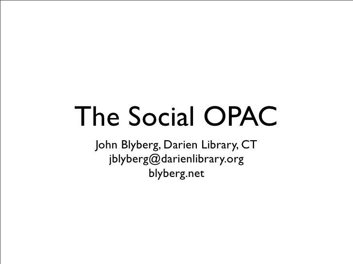 The Social OPAC
