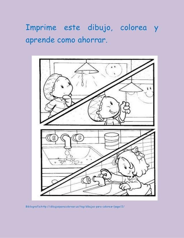 Dibujos Para Colorear De Como Ahorrar Energia