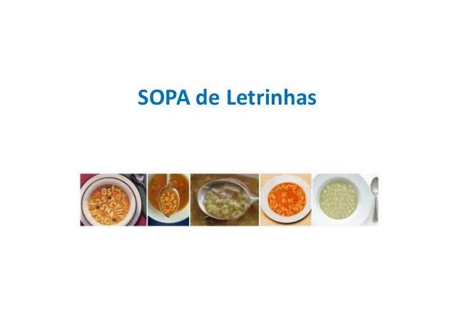 SOPA de Letrinhas
