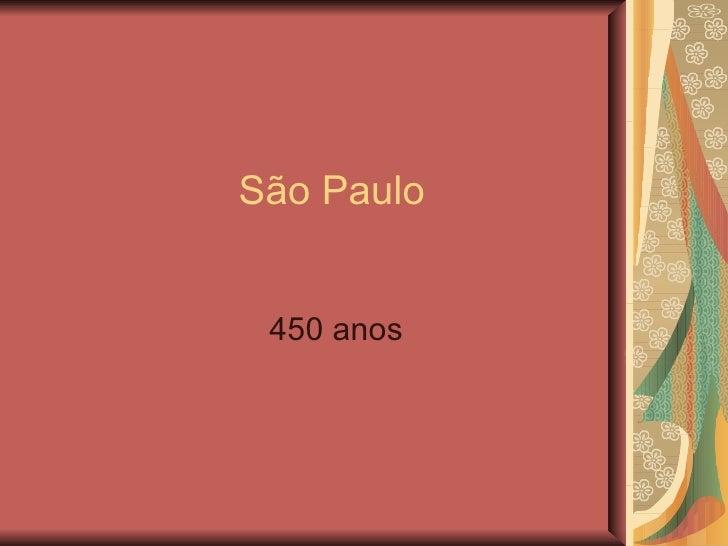São Paulo 450 anos