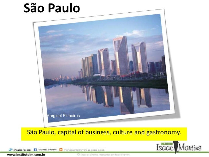 São paulo, capital of business, culture and gastronomy.