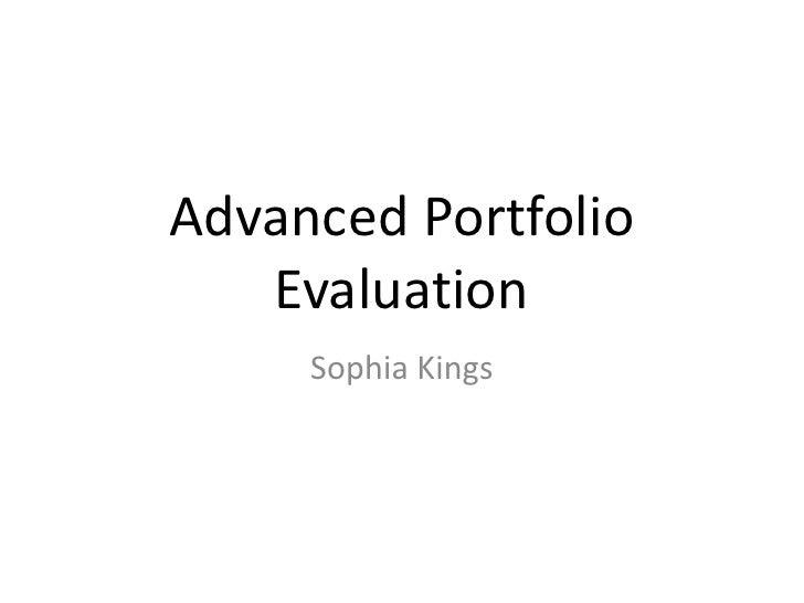 Sophia kings evaluation