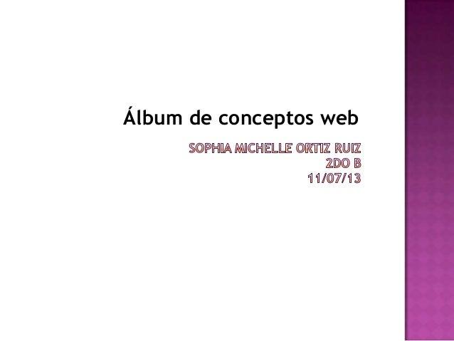 Álbum de conceptos web