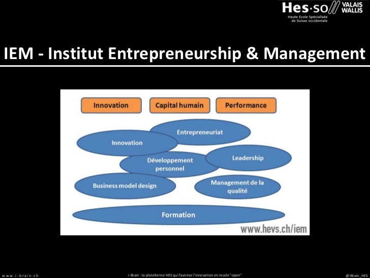 IEM - Institut Entrepreneurship & Managementwww.i-brain.ch   i-Brain : la plateforme HES qui favorise linnovation en mode ...