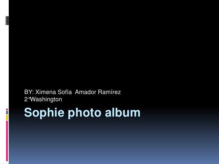 Sophie photo album<br />BY: Ximena Sofía  Amador Ramírez                   <br />2°Washington<br />