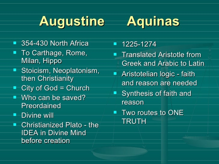 "plato and aristotle influence augustine and aquinas Are there not ""christian realists"" other than st augustine who would  aquinas  and aristotle are of the ""tough-minded"" tradition plato and."