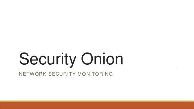 Security Onion - Brief