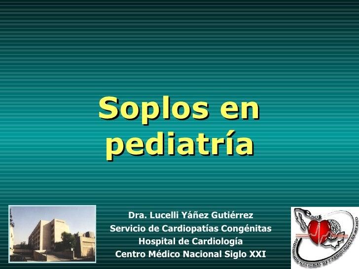 Soplos en pediatría