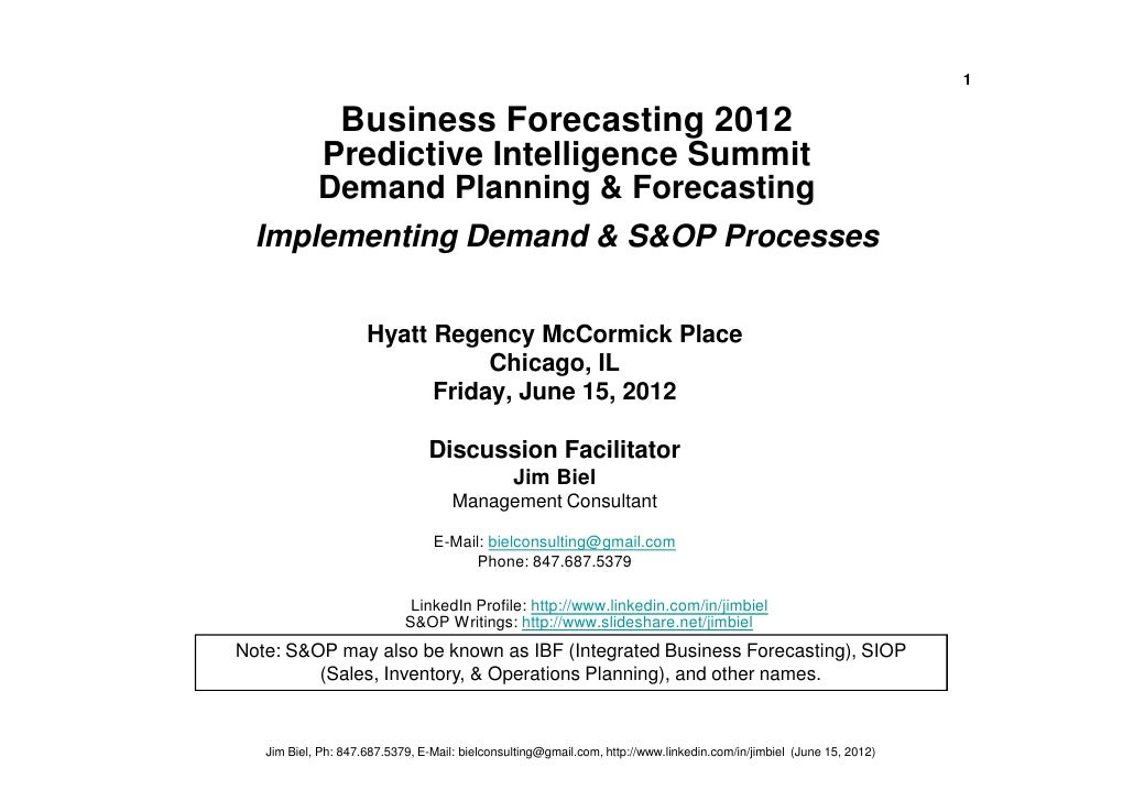 S&OP Overview Implementation Approach Biel 06-15-12
