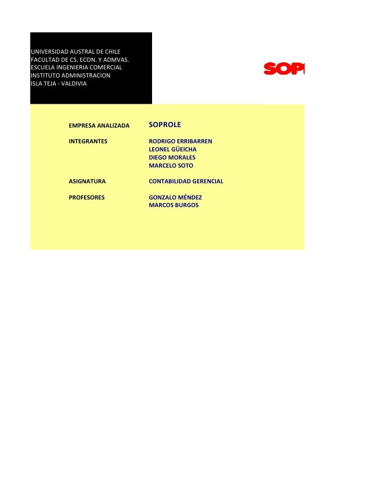 UNIVERSIDAD AUSTRAL DE CHILE FACULTAD DE CS. ECON. Y ADMVAS. ESCUELA INGENIERIA COMERCIAL INSTITUTO ADMINISTRACION ISLA TE...
