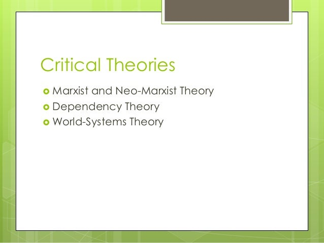 modernasation theory vs dependency thoery Id # 620054157 course code: 6040 course title: international public and development management a critique of development theory dependency theory id #: 620054157 submission date: september 23, 2015 id # 620054157 dependency theory emerged as a critique to modernization theory which posited that social progress and.