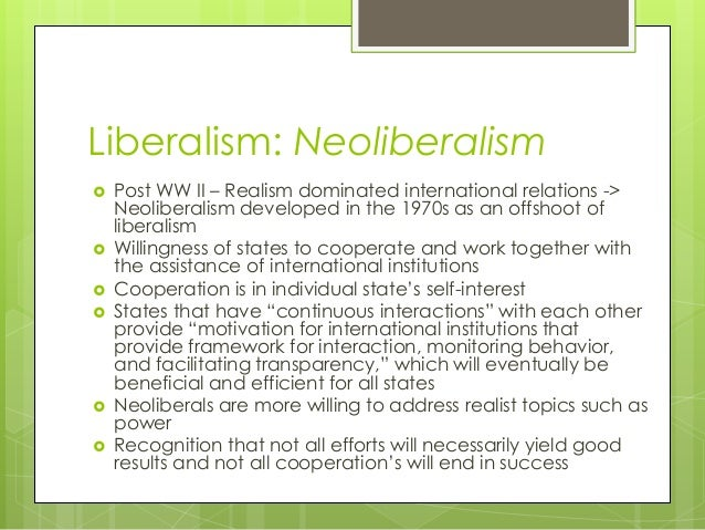 subject paper realism and liberalism Get an answer for 'what are the similarities and differences between realism and liberalism in international relations' and find homework help for other law and politics questions at enotes.