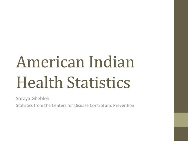 American	   Indian	    Health	   Statistics 	   	    Soraya	   Ghebleh	    Sta-s-cs	   from	   the	   Centers	   for	   Di...