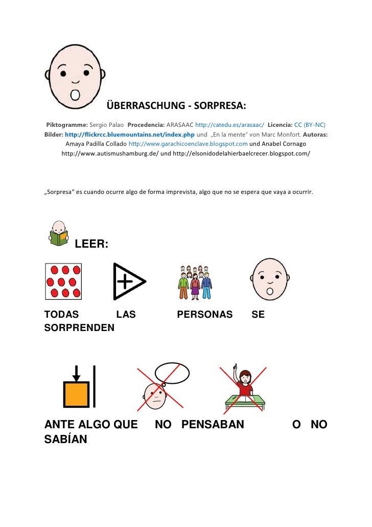 ÜBERRASCHUNG - SORPRESA: Piktogramme: Sergio Palao Procedencia: ARASAAC http://catedu.es/arasaac/ Licencia: CC (BY-NC) Bil...