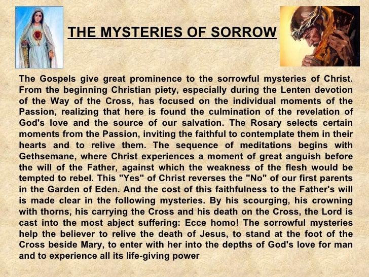 Sorrowful mysteries rosary