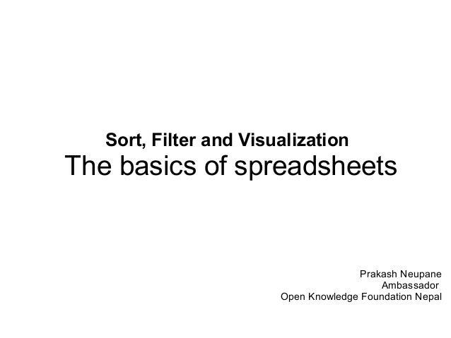 Sort filter-visualization Data