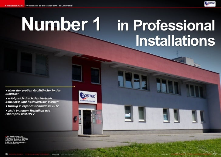 Firmen Report                       Wholesaler and Installer SORTEC, Slovakia                           Number 1 in Profes...