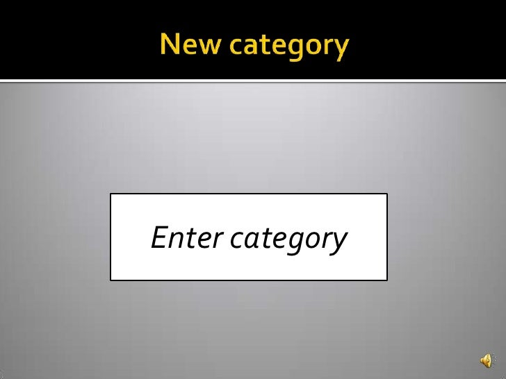 New category<br />Enter category<br />