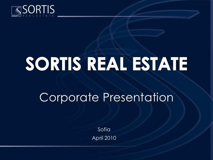 Sortis Re Presentation 20100428 En