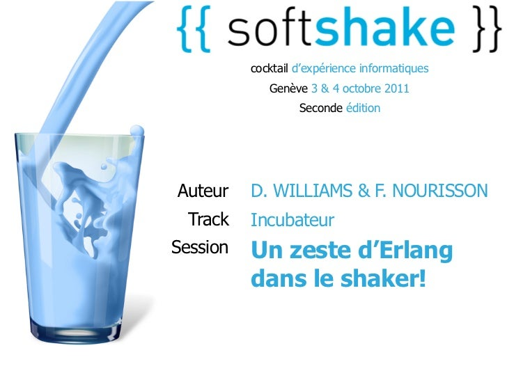 soft-shake.ch - Un zeste d'Erlang dans le shaker!