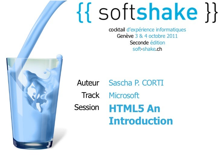 soft-shake.ch - Introduction to HTML5