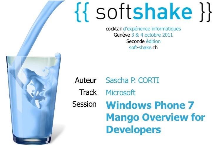 cocktail d'expérience informatiques             Genève 3 & 4 octobre 2011                    Seconde édition              ...