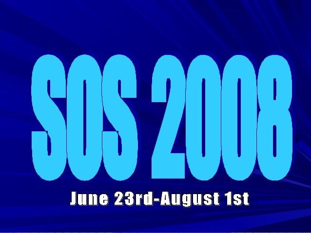 SOS 2008 - Tuolumne County Youth Partnership