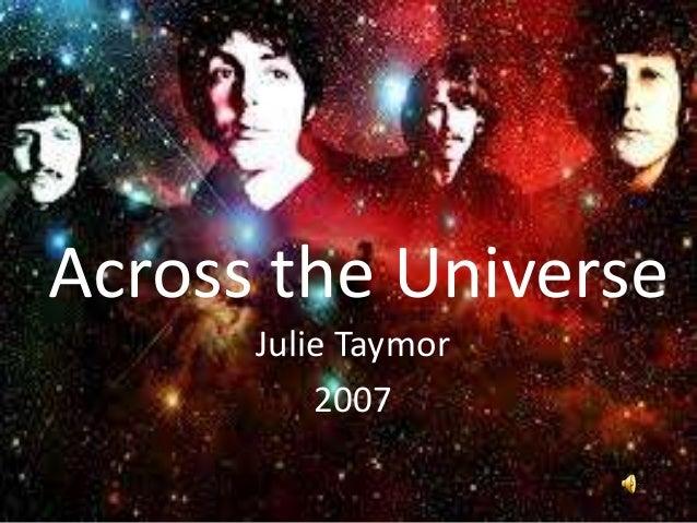 Across the Universe      Julie Taymor          2007