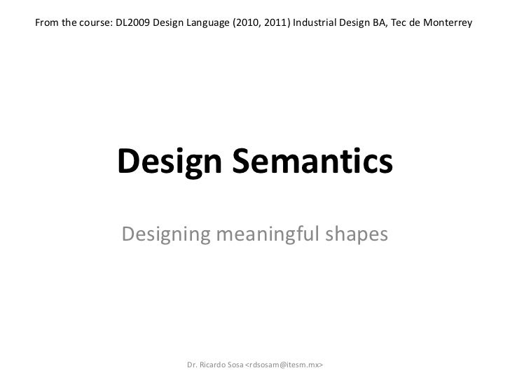 Sosa design semantics