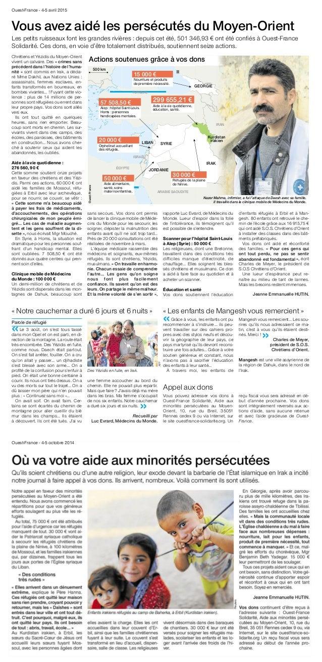 La France en bref « Notre cauchemar a duré 6 jours et 6 nuits » Parole de réfugié «Le 3 août, on s'est tous tassé dans mon...