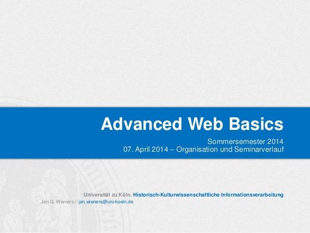 SoSem 2014   IT-Zertifikat: AWB - 00_Organisatorisches