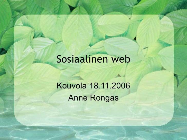 Sosiaalinen web