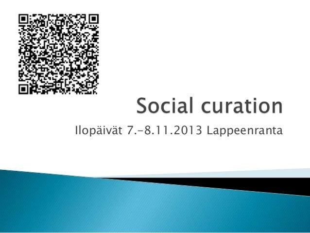 Ilopäivät 7.-8.11.2013 Lappeenranta