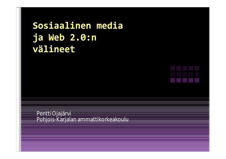 Pentti Ojajärvi Pohjois-Karjalan ammattikorkeakoulu