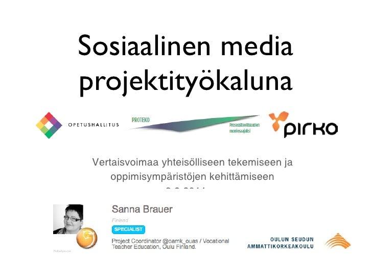 Sosiaalinen media projektityökaluna