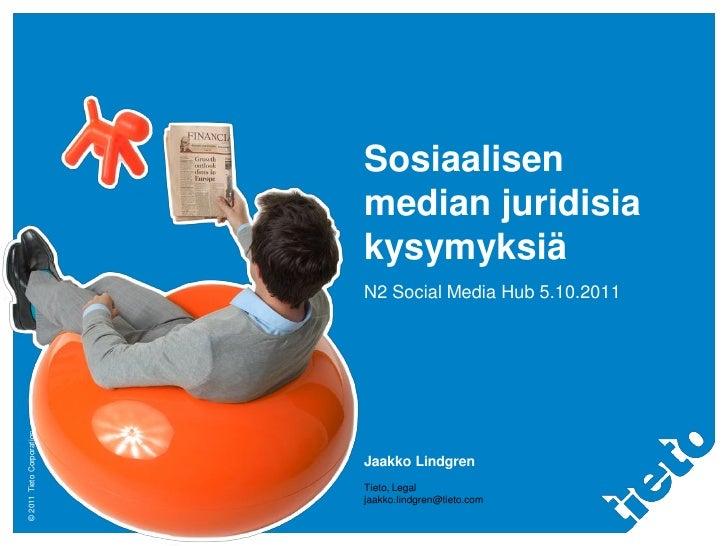 Sosiaalisen median juridisia kysymyksiä