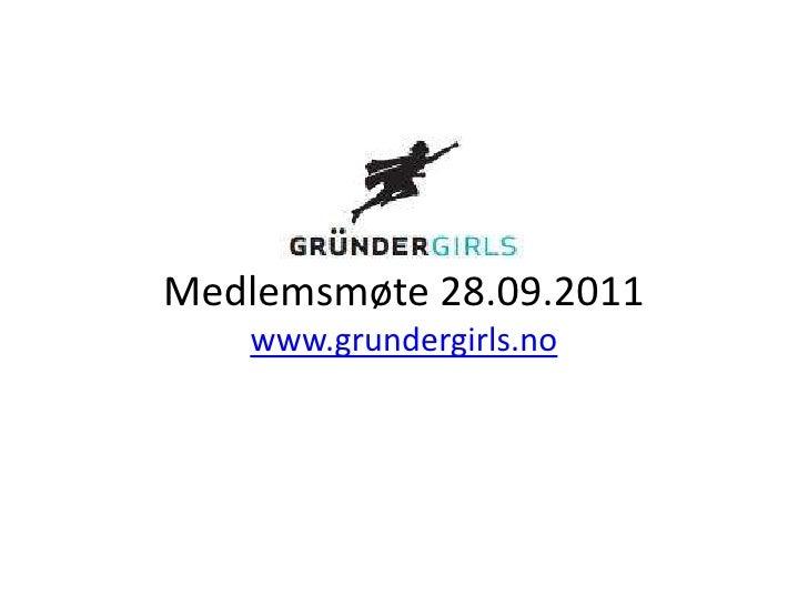 Sosiale medier - Gründer Girls medlemsmøte