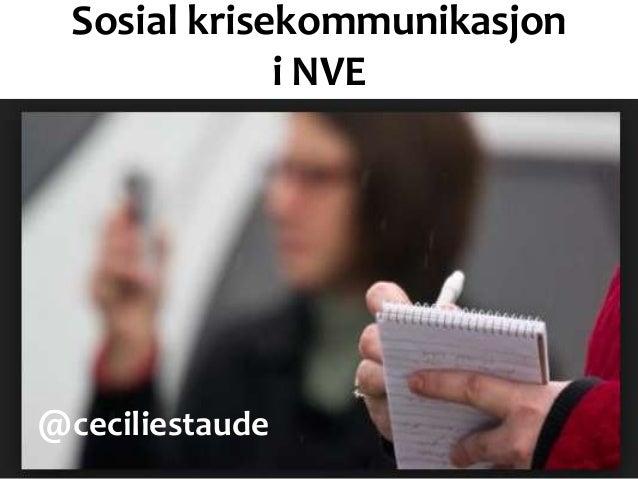 Sosial krisekommunikasjon I NVE
