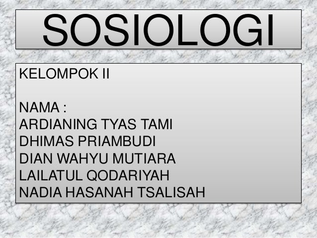 Kepribadian (Sosiolog)