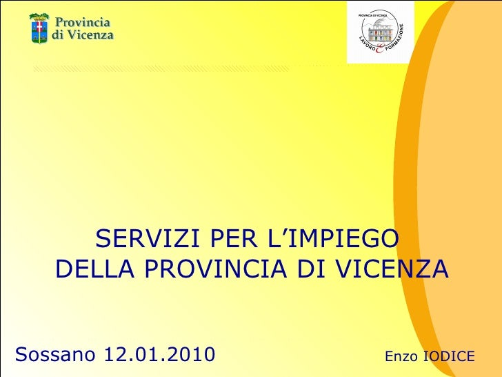Enzo Iodice - Intervento Sossano 12 Gen 2010
